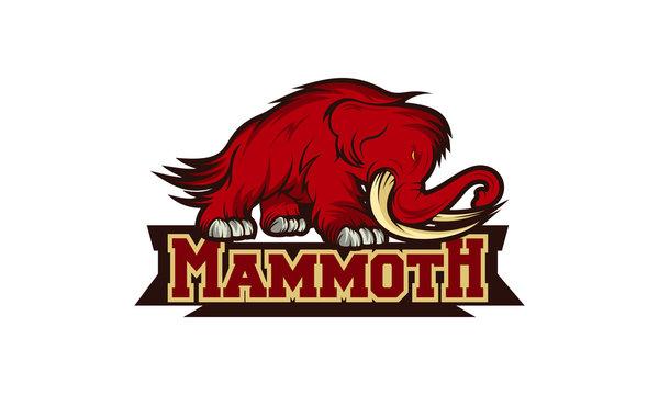 mammoth logo design template