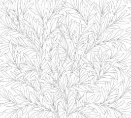 Floral seamless pattern for your design. Modern fabric design. Floral seamless pattern for coloring. Vector illustration. Backgrounds.