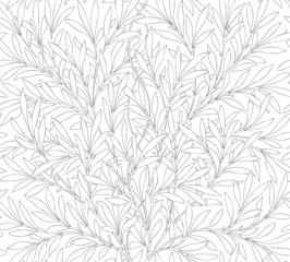 Floral seamless pattern for your design. Modern fabric design. Floral seamless pattern for coloring. Vector illustration. Backgrounds.