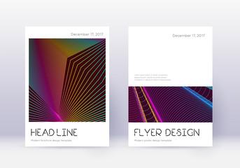 Minimal cover design template set. Rainbow abstrac