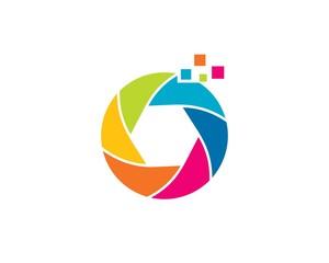 Pixel Camera Colorful logo