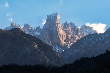 Naranjo de Bulnes mountain peak in Picos de Europa national park, Asturias, Spain
