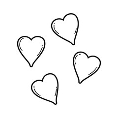 cute hearts floating pastel colors