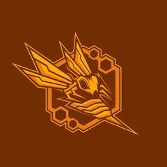 Sting Hornet robot logo design