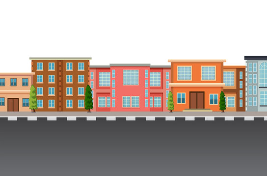 Isolated flat urban template