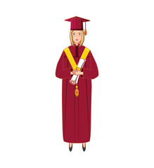 young woman graduated with diploma