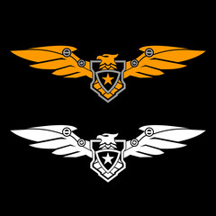 military logo eagle badge