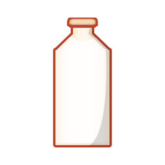 bottle of milk isolated icon