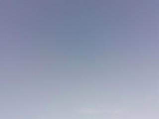 Blue sky without cloud.