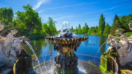 The Italian gardens in Kensington Gardens, London, UK