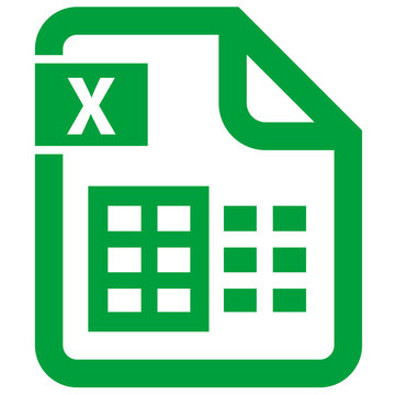 digital file office excel icon. document format icon xls xlsx spreadsheet