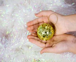 Christmas toys in children's hands
