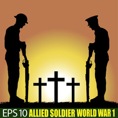 Wolrd War one Allied Soldier silhouette.