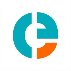 Obraz e, ce, ceg, ceo initials letter company logo - fototapety do salonu