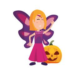 girl in halloween character costume