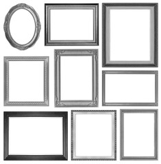 The collection frames on the white background
