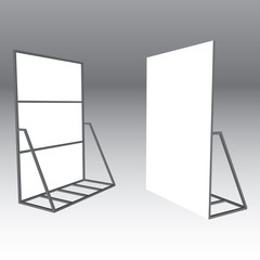 Blank Banner Stand . Trade Show Booth outdoor