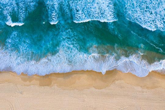 Aerial view Redhead Beach - Newcastle Australia. Redhead beach is a popular beach south of Newcastle CBD area.