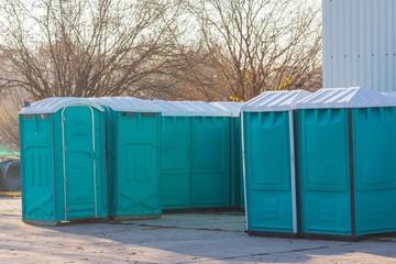 Sammelstelle für Baustellentoiletten