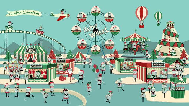 Winter carnival.