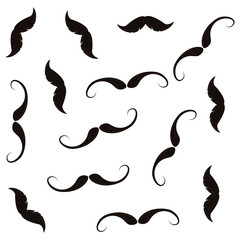 black moustaches hipster fashion pattern