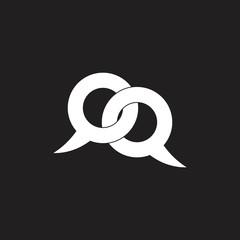 letter q link communication  logo