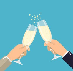Business success celebration.