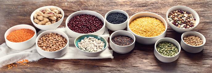 Poster de jardin Graine, aromate Various dry legumes