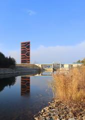 Kanal und Landmarke in der lausitz