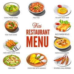 Thai cuisine food and traditional dishes