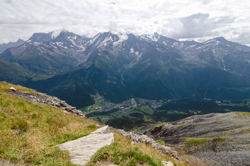Mont Blanc from Mont Joly