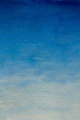 Abstract clouds blue sky oil painting background