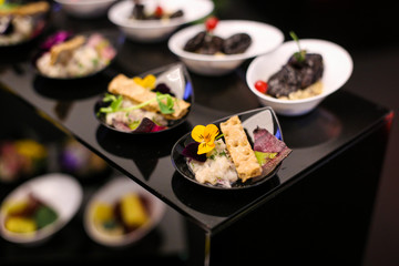Fine dining appetisers