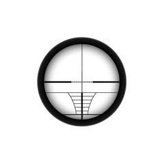 AR sniper scope crosshairs. Rifle aim icon. Weapon viewfinder.