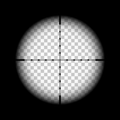 Rifle gun crosshairs illustration with transparent background.