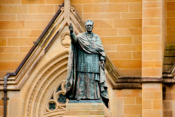 Cardinal Moran Statue at St Mary Cathedral - Sydney - Australia