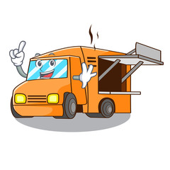 Finger character food truck with awning beautiful