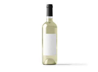 white wine bottle isolated mockup