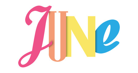 JUNE colorful typographic banner