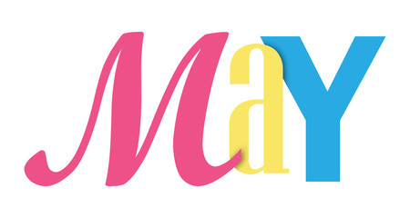 MAY colorful typographic banner