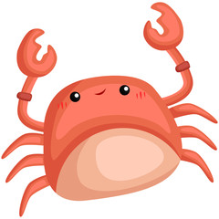 a vector of a cute and adorable crab