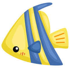 a vector of a cute and adorable fish