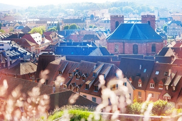 Belfort cityscape with Saint Christophe Cathedral