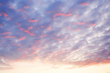 sky, sunset, clouds, cloud, blue, nature, sunrise, orange, sun, red, cloudscape, evening, light, weather, dusk, sunlight, dramatic, heaven, backgrounds, cloudy, summer, skies, landscape, pink, color