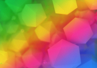 abstract colourful hexagon background