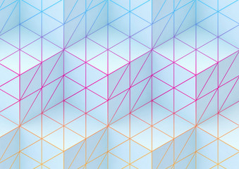 abstract background with coloured lines and cubes