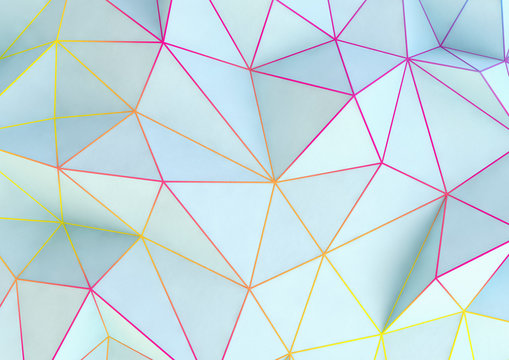 abstract geometric background with coloured lines and triangles