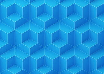 abstract background with blue cubes