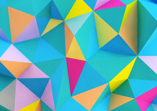 abstract colourful geometric background with triangles