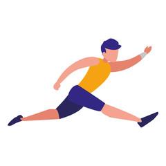 Fitness boy running design